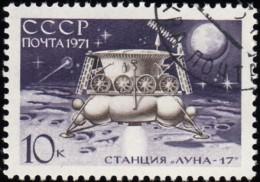RUSSIA - Scott #3834 Luna-17, Station Landing On Moon / Used Stamp - 1923-1991 URSS