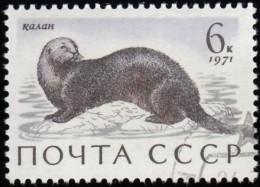 RUSSIA - Scott #3883 Enhydra Lutris / Used Stamp - 1923-1991 URSS