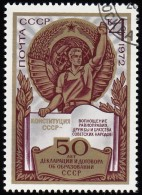 RUSSIA - Scott #4019 Consitution And Worker / Used Stamp - 1923-1991 URSS