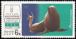 RUSSIA - Scott #4199 Arctocephalus Sp. / Used Stamp - 1923-1991 URSS