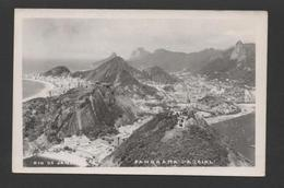 Postcard Stamp Air Mail 1954 BRASIL BRAZIL RIO DE JANEIRO Aerial View - Postcards