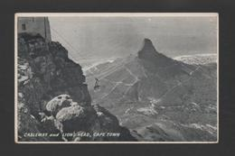 CAPE TOWN POSTCARD 1940years SOUTH AFRICA CABLEWAY & LIONS HEAD - Postcards