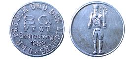 03682 GETTONE TOKEN FICHA JETON ADVERTISING VENDING LOCAL DER FREUDE UND DES LICHTES 20 FEST SCHNEEBERG 1982 ALU - Allemagne