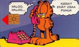 TARJETA TELEFONICA DE FINLANDIA. (GARFIELD) (TIRADA 10000) (662). - Finlandia