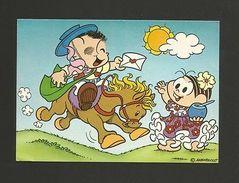 BRASIL BRAZIL COMICS MONICA Mônica 1970s Horse Postman Z1 - Postcards