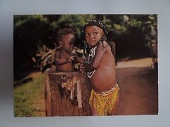 BLACK YOUNG ZULUS NATAL SOUTH AFRICA SUID AFRIKA Postcard 1960years Z1 - Postcards