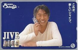 JP.- Japan, Telefoonkaart. Telecarte Japon. JIVE. KIRIN BEVERAGE - Personen