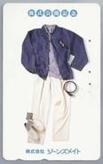JP.- Japan, Telefoonkaart. Telecarte Japon. KLEDING - Reclame