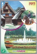 JP.- Japan, Telefoonkaart. Telecarte Japon. NTT - KANSAI. LAGARE CARD. FONTEIN. PAARD - Telefoonkaarten