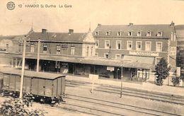 Hamoir S/ Ourthe - La Gare (hôtel Du Chemin De Fer, 1923, Photo Belge Lumière) - Hamoir