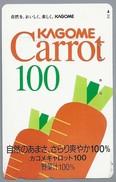 JP.- Japan, Telefoonkaart. Telecarte Japon. KAGOME CARROT 100. - Levensmiddelen
