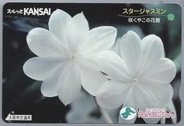 JP.- Japan, Telefoonkaart. Telecarte Japon. KANSAI. RAINBOW CARD. - Bloemen