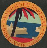 Etiquette D'hôtel : Grand Hôtel Impérial - Dubrovnik - Croatie - Ex-Yougoslavie - Hotel Labels
