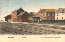 Micheroux - La Gare (Edit. B Lempereur Dewez, Animée, Colorisée, 1907) - Soumagne