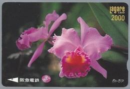 JP.- Japan, Telefoonkaart. Telecarte Japon. LAGARE CARD 2000. BLOEM. - Bloemen