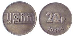 00032 GETTONE TOKEN FICHA JETON AMUSEMENT SKILL MACHINE JPM INTERNATIONAL 20P - Unclassified