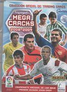 ALBUM DE CROMOS DE FÚTBOL CON MÁS DE 250 CROMOS (TARJETAS MEGA CRACKS, LIGA 2008-09) - Tarjetas