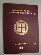 Greece Biometric Passport Reisepass Passeport Missing The 1st Photo Page With Syrian Visa & Revenues - Documents Historiques
