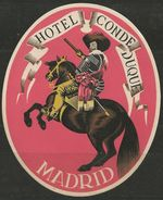 Etiquette D'hôtel : Hôtel Conde Duque - Madrid - Espagne - Etiquettes D'hotels
