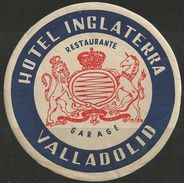 Etiquette D'hôtel : Hôtel Inglaterra - Valladolid - Espagne (petite Déchirure) - Hotel Labels