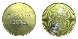 00068 GETTONE TOKEN FICHA JETON AMUSEMENT VENDING MACHINE EUROCOIN LONDON STARBURST DESIGN - Unclassified