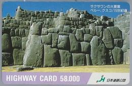 JP.- Japan, Telefoonkaart. Telecarte Japon. HIGHWAY CARD 58.000 - Telefoonkaarten
