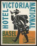 Etiquette D'hôtel : Hôtel Victoria National - Basel - Bâle - Suisse - Hotel Labels