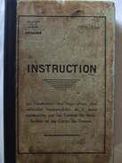 INSTRUCTION ARTILLERIE REPARATION VEHICULE HIPPOMOBILE AVANT-TRAIN VOITURE CHARIOT CUISINE ROULANTE FOURGON 1934 - Cataloghi