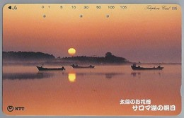 JP.- Japan, Telefoonkaart. Telecarte Japon. ZON SUN. - Landschappen