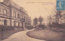 Cpa 10 Aix En Othe Façade Du Chateau Léon Sinelle Estivalet Edit - France