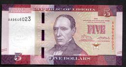 LIBERIA : 5 Dollars - 2016 - UNC - Liberia