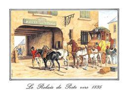 Le Relais De Poste Vers 1835 Poste Royale Pferde Horses Postcard - Ansichtskarten