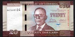 LIBERIA : 20 Dollars - 2016 - UNC - Liberia