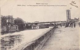 CPA Creil, Oise, Le Pont Suspendu Construit Sur L'emplacement Du Pont Métallique  (pk40388) - Creil