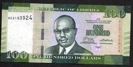 LIBERIA : 100 Dollars - 2016 - UNC - Liberia