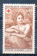 FRANCE 1969 - (**) - N° 1619 Et 1620 - (Au Profit De La Croix-Rouge) - France