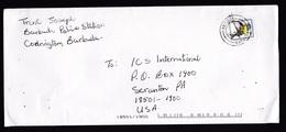 Antigua & Barbuda: Cover To USA, 1996, 1 Stamp, Bird (staple Holes) - Antigua En Barbuda (1981-...)
