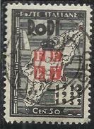 EGEO 1932 OCCUPAZIONE E RIVOLUZIONE FASCISTA CENT. 50 C USATO USED OBLITERE' - Egée