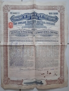 ACTION TITRE - COMPAGNIE DU CHEMIN DE FER DE L'EST CENTRAL CHILIEN - £20 - 1910 - Chemin De Fer & Tramway