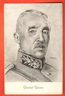 MIW-25 Militaire Militär  General Henri Guisan Dessin Au Crayon Du Peintre G. Billet, Zeichnung. Avec Timbre Du Général - Suisse