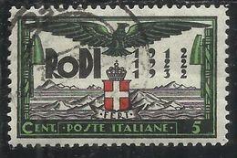 EGEO 1932 OCCUPAZIONE E RIVOLUZIONE FASCISTA CENT. 5 C USATO USED OBLITERE' - Egée