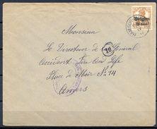 BÉLGICA , 1916 , OCUPACIÓN BELGA , YV. 15 , SOBRE CIRCULADO ENTRE HAM-SUR Y AMBERES - Guerre 14-18