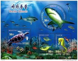 North Korea - 2013 - Marine Animals - Mint Souvenir Sheet - Corea Del Nord