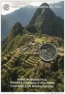 Lote PM2011-3, Peru, 2011, Moneda, Coin, Folder, 1 N Sol, Machu Picchu, Indigenous Theme - Perú