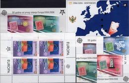 50 Jahre CEPT Kiribati 994 KB,Montenegro 108/1 A,Bl.2B+3 ** 148€ Karte Flaggen Ss Map Bloc Flags Sheetlet Bf EUROPA - Stamps