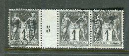 Superbe Bande De Trois N° 83 Millésimée 5 - 1876-1898 Sage (Tipo II)