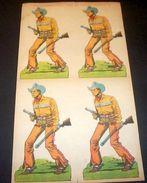 Marca Stella Foglio N° 25 Cow Boy Rangers - 1930 - Giocattoli Antichi