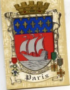 75 PARIS - Blason, Armes De La Ville, Héraldique - Superbe CPSM (à Plats Or Et Argent) N° 1314 S Barré-Dayez - Altri