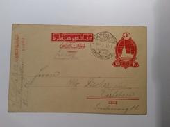 Turkey Postal Stationery FELDPOST MIL MISS KONSTANTINOPEL 1917 (Militär Mission 1914-18 Cover Turkei Turquie Lettre - Storia Postale