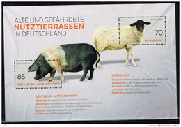 Bund 2016, Michel#  Block 81 ** Alte Und Gefährdete Nutztierrassen - [7] West-Duitsland